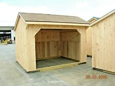 Run In Shed Amish crafted- 10x12 Turn Out Shelter (photos are showing options)