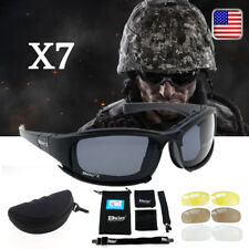 Military Tactical Polarized X7 Goggles Motorcycle cycling Glasses 4 Lens Strap