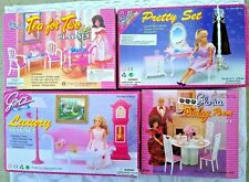 4 Gloria Dollhouse Furniture Tea For Two+Dining Room+Pretty+Luxury Play Sets