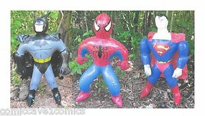Batman | Superman | Spider-Man | 3 Inflatables | 24 in. (60 cm) | Great Gifts