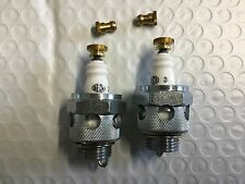 Beck 18mm Air-Cooled Spark Plugs w/ Knurled Nuts Harley Knucklehead UL WLA WLC