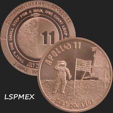 2019 Apollo 11 50th Anniversary 1 oz .999 Copper BU Round USA Made Coin