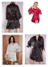 Satin Patternless Everyday Nightwear Robes for Women