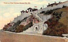 KANSAS CITY, MO  Missouri           TOWER ON WEST TERRACE       c1910's Postcard