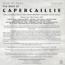 "CAPERCAILLIE ""DUSK TILL DAWN - THE BEST OF"" ULTRA RARE UK PROMOTIONAL CD"