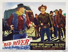 JOHN WAYNE MONTGOMERY CLIFT Ready For Action In RED RIVER 11x14 LC Print 1948