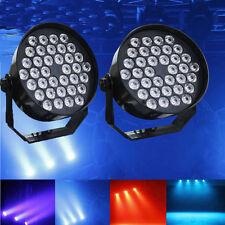 2X 72W 36 LED RGB Stage Lights DMX512 6CH Par Disco Party Pub Light US Plug