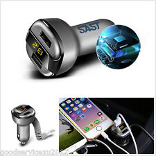 Multifunction 3.4A 5V Autos Dual USB Charger Voltage/Current Digital LED Display