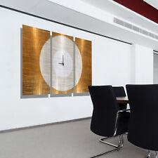 Large Modern Wall Clock, Gold Contemporary Metal Wall Art by Jon Allen