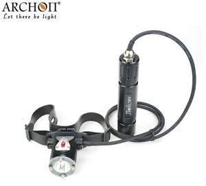 Archon DH25 WH31 Cree XM-L U2 Canister Scuba Diving LED Flashlight Headlight