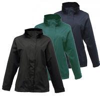 Regatta Womens Gibson Waterproof Windprf Lined Hooded Shaped-Fit Jacket