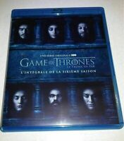 COFFRET BLU RAY SERIE NEUF : GAME OF THRONES LE TRONE DE FER SAISON 6 INTEGRALE