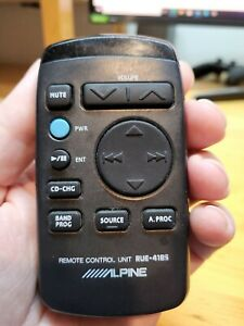 Original Alpine RUE-4185 Remote Control RTRUE4185 RUE4185 Used