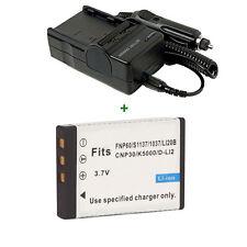 Battery + Charger for VIVITAR DVR-390H DVR 550 Vivicam 4000 digital camera new