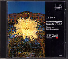 BACH Brandenburg Concerto 1 3 5 Akademie für Alte Musik Berlin CD  Hrmonia Mundi