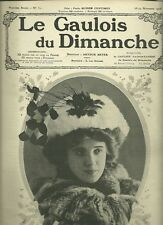 REVUE LE GAULOIS DU DIMANCHE 1908 LATOUR LEO CLARETIE