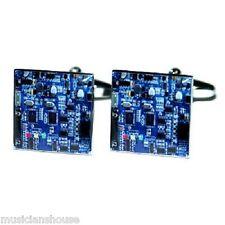 CUFFLINKS Printed Circuit Board ELECTRIC AIR TRAFFIC CONTROL RADIO OPERATOR GIFT