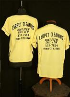 VERY RARE SET OF VINTAGE 1950'S YELLOW HUSBAND & WIFE GABARDINE BOWLING SHIRTS