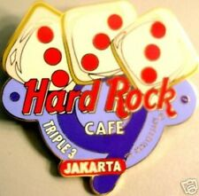 Hard Rock Cafe JAKARTA 2001 9th Anniversary PIN HRC Logo with Triple 3's Dice!