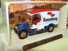 RENAULT AG KRONENBOURG 1910 MATCHBOX YGB07 Publicitaire
