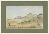 Chim  - Signed & Framed 1991 Watercolour, Mountain Landscape