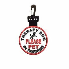 THERAPY DOG IN TRAINING Tag DOUBLE SIDED CLIP ON ID TAG C-215 Patch