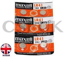 6 X Reale MAXELL AG3 \ L736 \ LR41 \ LR736 1.5 V BUTTON CELL PILE ALCALINE