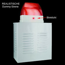 realistische Dummy Alarmanlage Alarmsirene Alarm Sirene Attrappe blinkende LED