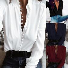 ZANZEA 8-24 Women Summer Casual Club Party Button Up Blouse Shirt Plus Size Top