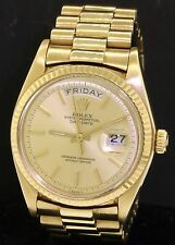 Rolex Presidential 1803 day-date 18K gold '77 automatic pie-pan dial men's watch