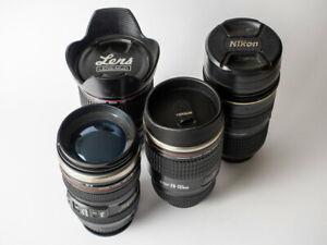 Sammlung Thermobecher Kamera Objektiv Thermotasse Becher Kaffeetasse Trinkbecher