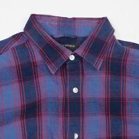 Banana Republic Button Up Shirt Mens Large Soft Wash Long Sleeve Flannel Plaid