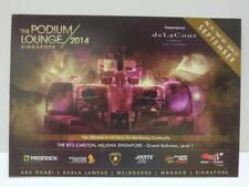 LUCKYPIGEON888 Singapore Formula One F1 Racing Car 2014 Ad Postcard (E0070)