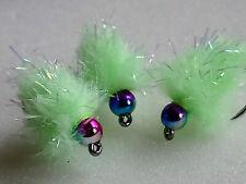 """X3 Size 12 Glistening Egg_it Mojito Eggstacy Blob fly Fly Fishing, eggstacy fly"""""""