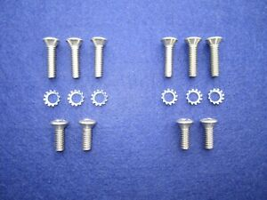 1960-1964 GM Convertible Sun Visor & Top Latch Stainless Screw Kit