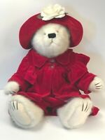 "BOYDS BEAR GIRL PLUSH 17"" FRANCESCA LAFLAME WHITE BEAR JOINTED RETIRED EUC"