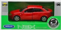 WELLY AUDI A4 RED 1:34 DIE CAST METAL MODEL NEW IN BOX
