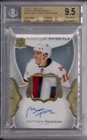 16/17 The Cup Signature Materials Rookie/Patch Matthew Tkachuk BGS 9.5 Gem Mint