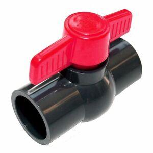 PVC-U Kugelhahn 25mm Einklebekugelhahn DN25 Absperrhahn aus PVC 2 X Klebemuffe