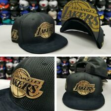 New Era NBA Black / Gold Los Angeles Lakers Court Draft Collection Snapback Hat