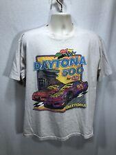 Daytona 500 Nascar Vintage 1993 STP Tee T-Shirt Made in USA Tour Premier Sports