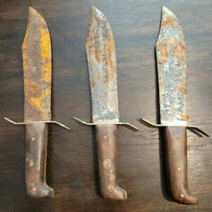 "USED Vintage Large Bowie Knives 10"" Blade Throwing Restore display Knives"