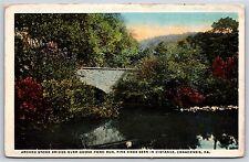 Stone Bridge over Goose Pond Run Pike Knob Canadensis, Pennsylvania Postcard