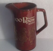 100 PIPERS SEAGRAMS SCOTCH PUB JUG WATER PITCHER - LIQUOR ADVERTISING