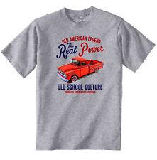 VINTAGE American Car Chevrolet Apache Pick Up-Nuovo T-shirt di cotone