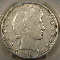 1902-O Barber Half Dollar 50c PCGS Certified VF30 Net Graded from XF due to bein