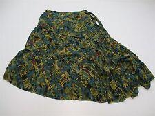 JOSEPHINE CHAUS Women's Size 10 Asymmetric Hem Flared Silk Skirt NEW