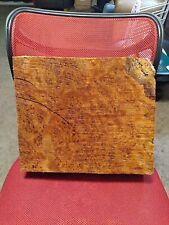 "Maple Burl Lace Block Art Craft Knife Call 11"""