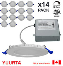 YUURTA (14-pack) 4 Inch Pot Light 10W Recessed Ceiling LED Downlight Dimmable