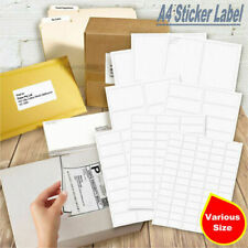 A4 Paper Sticker Office Mailing Labels Address Laser Inkjet Print Multi Size